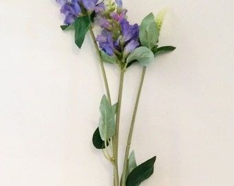 3 x Purple Blue Physostegia - Artificial Wild Flowers