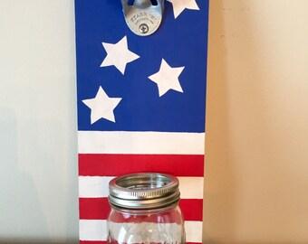 American Flag Bottle Opener