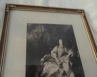 Antique French Portrait Madame De Pompadour Barbola Frame Paris Apartment