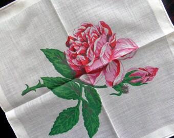 Vintage cotton floral handkerchief, set of four