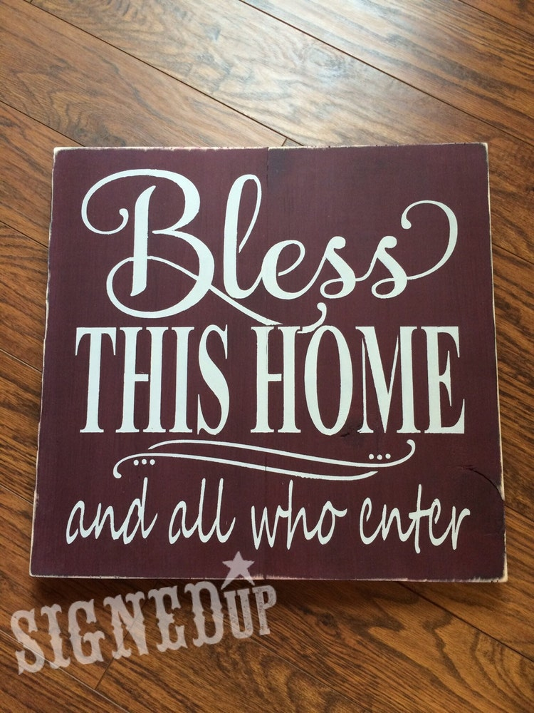 Bless This Home Sign By Signedup On Etsy