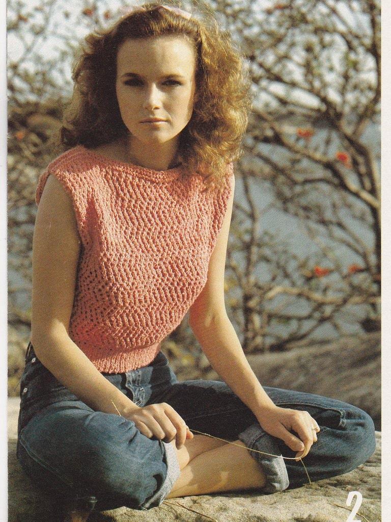 Knit Pattern Digital Download Summer Fashion Summer Top Knitting for Women Kn...