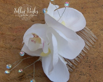 Flower Hair Comb, Hair Accessory, Wedding Hair Flower, Orchid Hair Flower