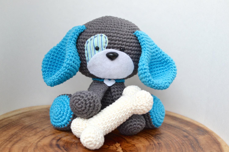 Cute Dog Crochet Pattern. Domino The Dog Amigurumi Crochet
