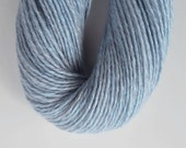 Cashmere Silk Blend, 162 yards, 50 grams, DK Weight, Icy Blue. Raveled,renewed and hand-dyed.