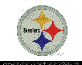 Football machine Embroidery Designs (steelers) 4x4 - Instant Download