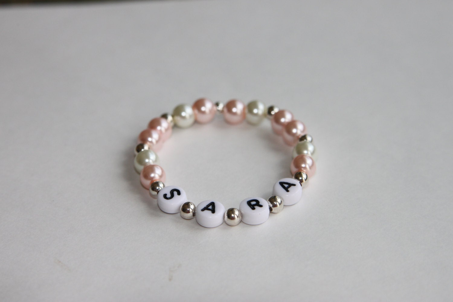 Child Baby Swarvoski Name Bracelet ID bracelet by