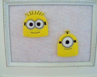 Little Yellow Guys ,Two to Choose From and Two Sizes 4 Felties and Always Precut