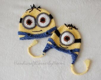 Minion Crochet Hat. Build your own minion hat!