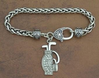 Golf Bag Braided Clasp Bracelet