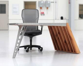 Aviator Wing Desk Airfoil Desk + Oak + Aluminum | World War I Aviator  Inspired Desk