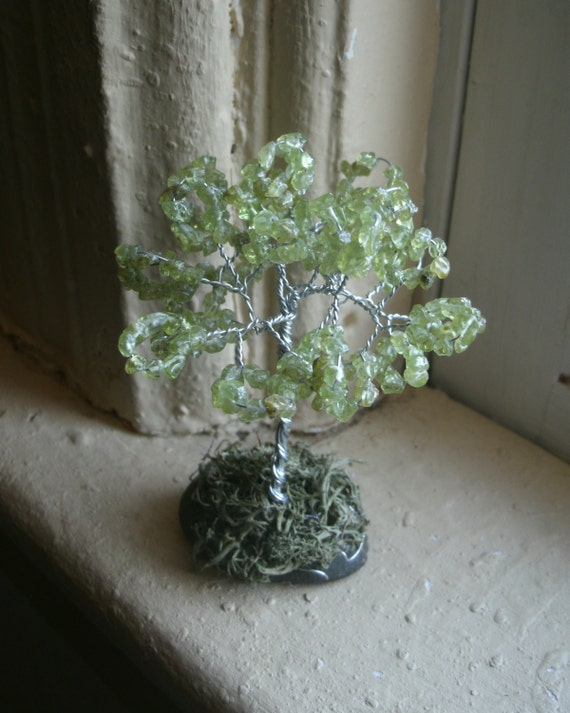 Awareness  Miniature Tree, gemstone tree, custom orders, choose your custom color, we make these for support and hope as a cancer survivor