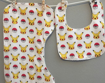 Pokemon Baby Gift Set Bib, Burp Cloth