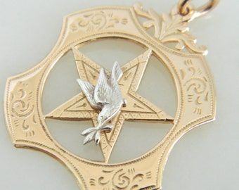 Incredible Victorian 14K Gold Bird Pendant