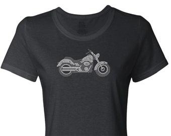 Motorcycle Rhinestone Shirt