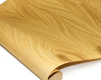 "Marbled Indian Cotton Rag Paper - GOLD - 22"" x 30"""