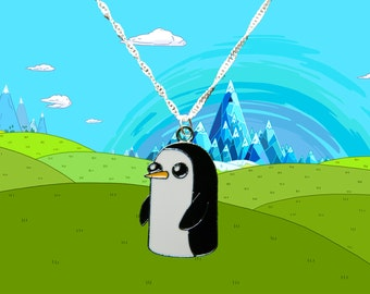 Adventure Time sterling silver necklace with Gunter charm  Free UK Postage!