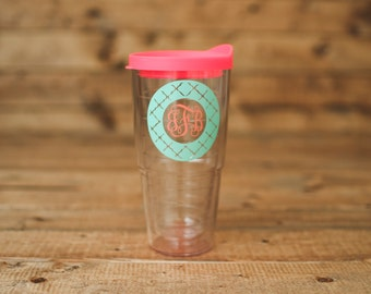 Tervis. Personalized Tervis tumbler with lid. 24 ounces hot or cold. New Tervis design.