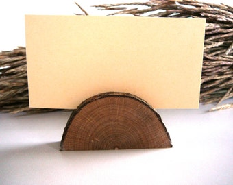30 Rustic Wedding Table Card Holders, Wooden Name Card Holders, Table Decor Place Number Holder