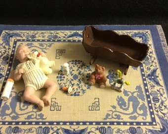 Minature dollhouse baby accessories