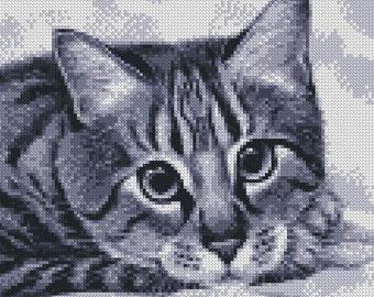 Cross Stitch Pattern ''Kitty'' PDF