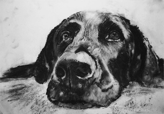 Labrador wall art Black Lab print Lab mom Labrador owner