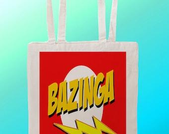 The Big Bang Theory Bazinga Sheldon Cooper - Reuseable Shopping  Canvas Tote Bag