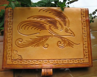 Leather Tooled Book Cover