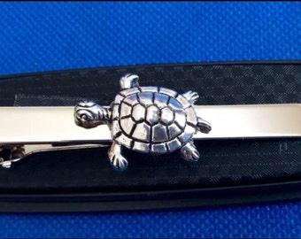 Sea Turtle Tortoise Tie Clip