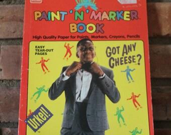 Fantastic Vintage 1992 Family Matters - Steve Urkel Golden Paint 'n Marker Book - Unused!