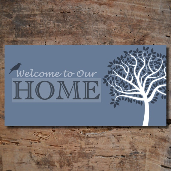 Welcome To Our Home: Welcome To Our Home Tree Print Gift For By CraftyArtsyThings