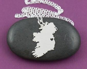 SALE • Ireland Necklace • Irish Jewelry • Europe Jewelry •Irish Pendant •Hometown •Personalized Engraving • Travel Gift •Country Gift