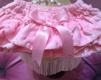 Ruffled Minky Diaper Cover