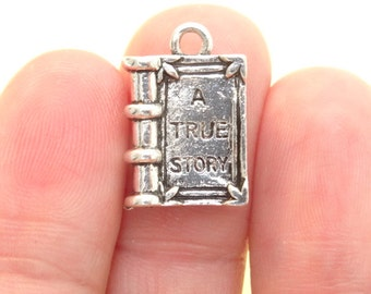 4 A True Story Book Charms Antique Silver - SC1000