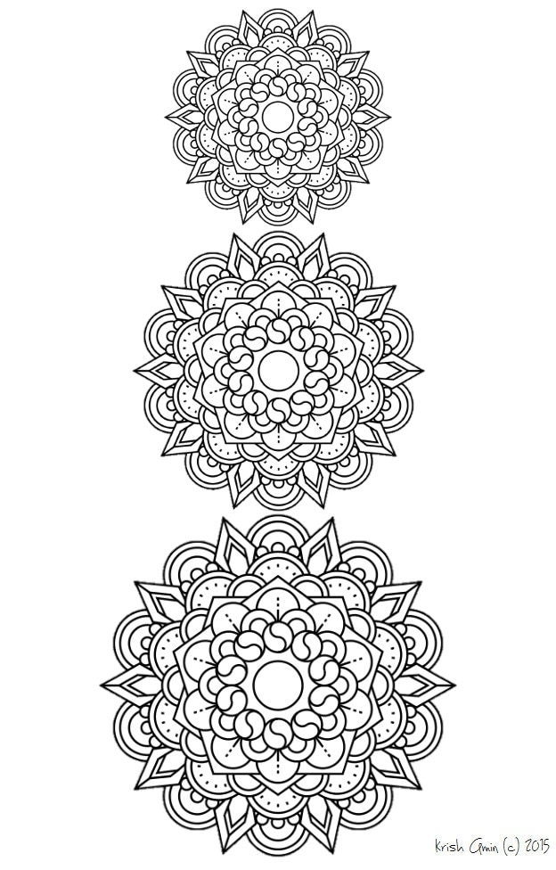 zen hearts intricate coloring page mandala coloring page from zen out vol 1 by 7366