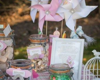 Candy Bar complete range in pink light, white and pale green