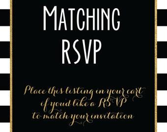 Matching RSVPs