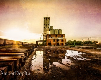 Abandoned Mill and Old Railroad Fine Art Photography