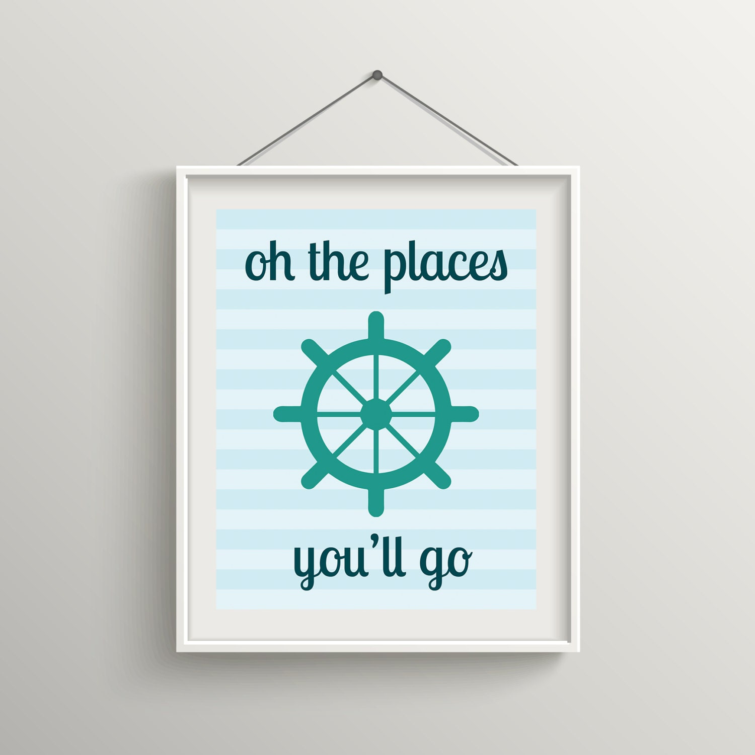 Baby Nursery Oh The Places You Ll Go Nautical Teal