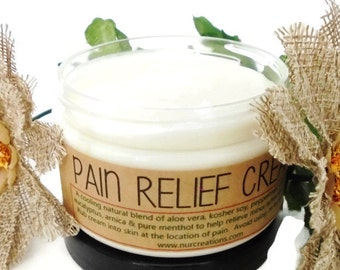 Pain Relief Cream 100% Natural Sore Muscle Rub 4oz.