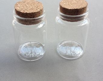 4pcs 46x70mm Mini glass bottles with corks Glass Bottles. Mini Glass Bottles. Glass Vials With Cork. Tiny Bottle.Small Cork.