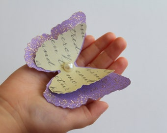 12 Pcs. Lavender Layered Butterflies Wedding Table Decoration / Bridal Shower/Party Decoration/Wall decor