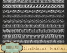 Chalkboard Art Deco Borders And Dividers Clip Art Ornamental Design