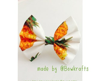 Pineapple hair bows