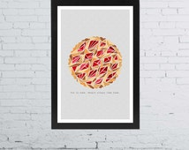 Pushing Daisies Minimalist Poster | 11 x 17 Inches