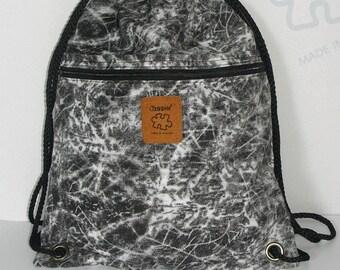 Stone Backpack Cotton drawstring backpack Hip bag Handmade bag