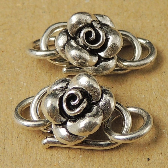 Sterling Silver Clasp 925 Rose Clasps S Hooks Jewelry Making