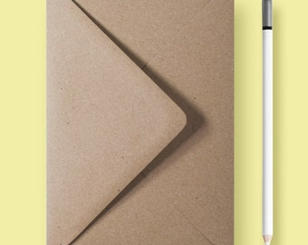 "5×7″ - 133x178mm - Eco Kraft Envelopes - 5x7"" Eco Kraft Vintage Recycled Envelope - DIY by Paper Charms"