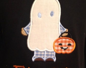 Children's Halloween Monogrammed Applique Onesies/Shirts