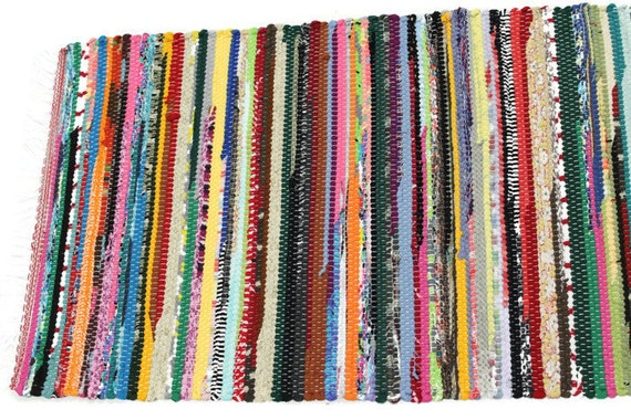 Superior Small Old Fashioned Loom Woven Rag Rug, Retro Rag Rug, Thick Kitchen Rag Rug